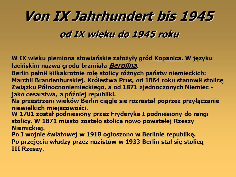 Von IX Jahrhundert bis 1945 od IX wieku do 1945 roku
