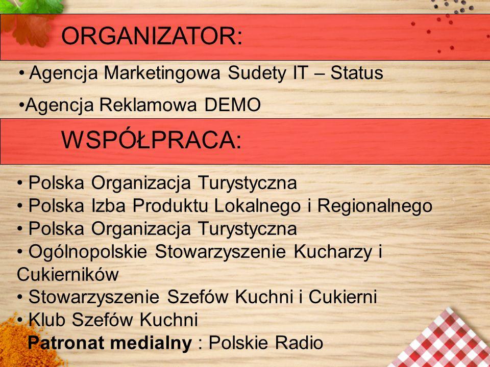 ORGANIZATOR: WSPÓŁPRACA: Agencja Marketingowa Sudety IT – Status