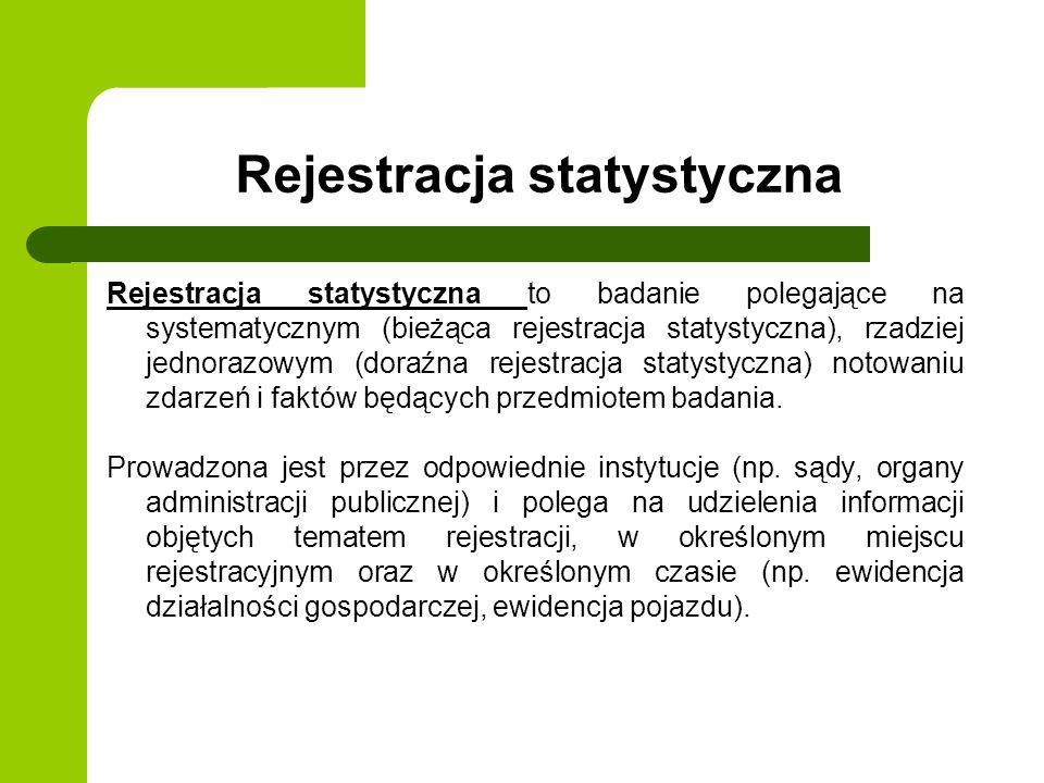 Rejestracja statystyczna