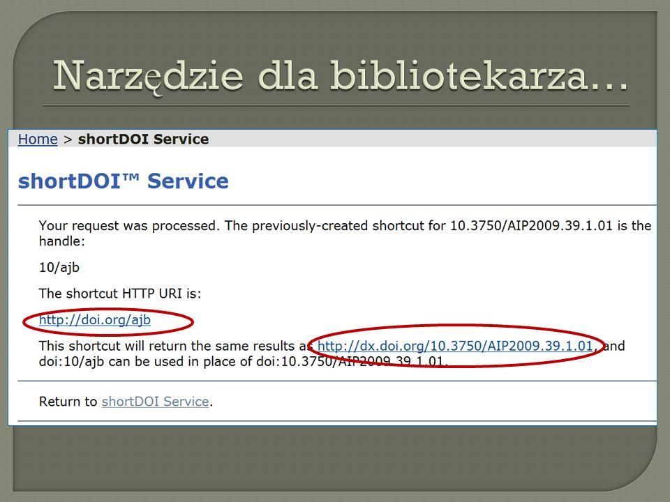 Narzędzie dla bibliotekarza…