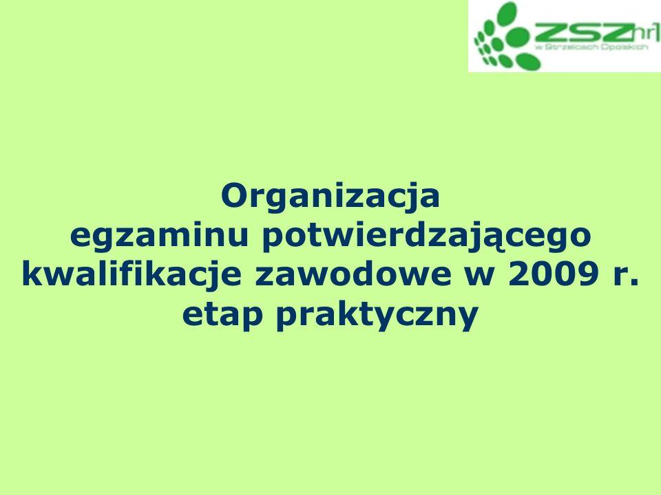 egzaminu potwierdzającego kwalifikacje zawodowe w 2009 r.