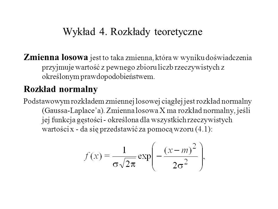 Wykład 4. Rozkłady teoretyczne