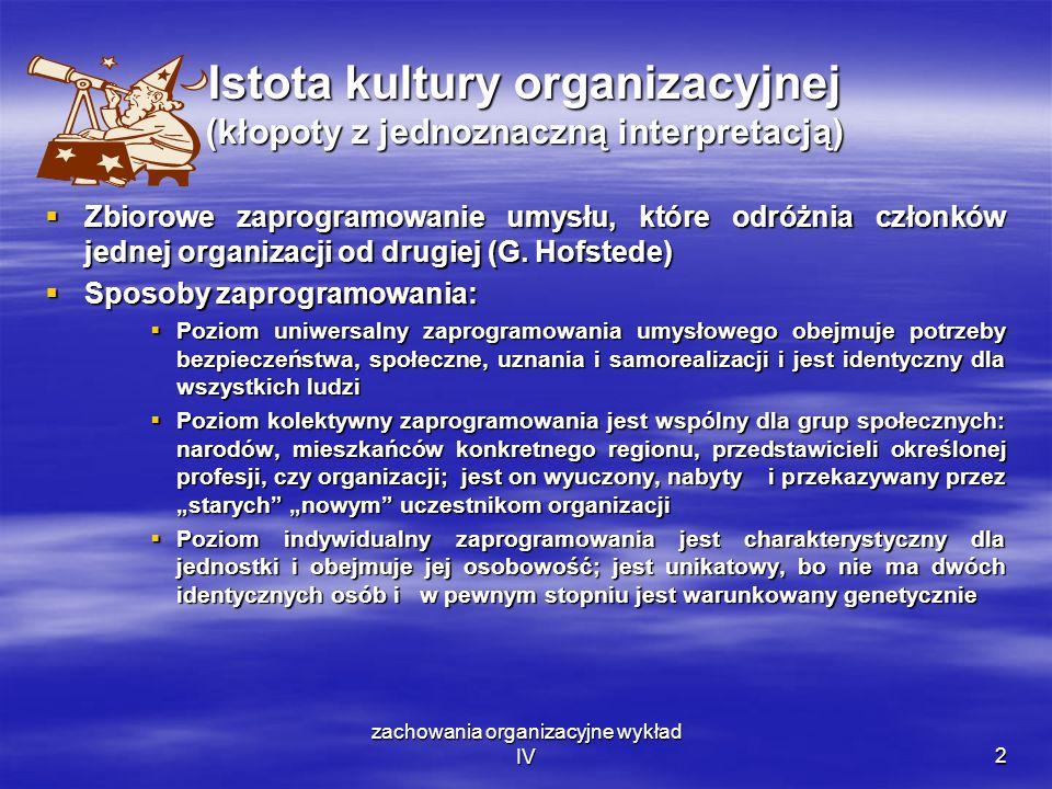 Istota kultury organizacyjnej (kłopoty z jednoznaczną interpretacją)