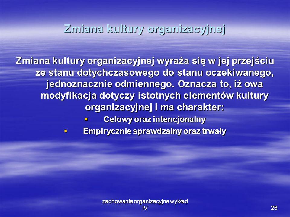 Zmiana kultury organizacyjnej