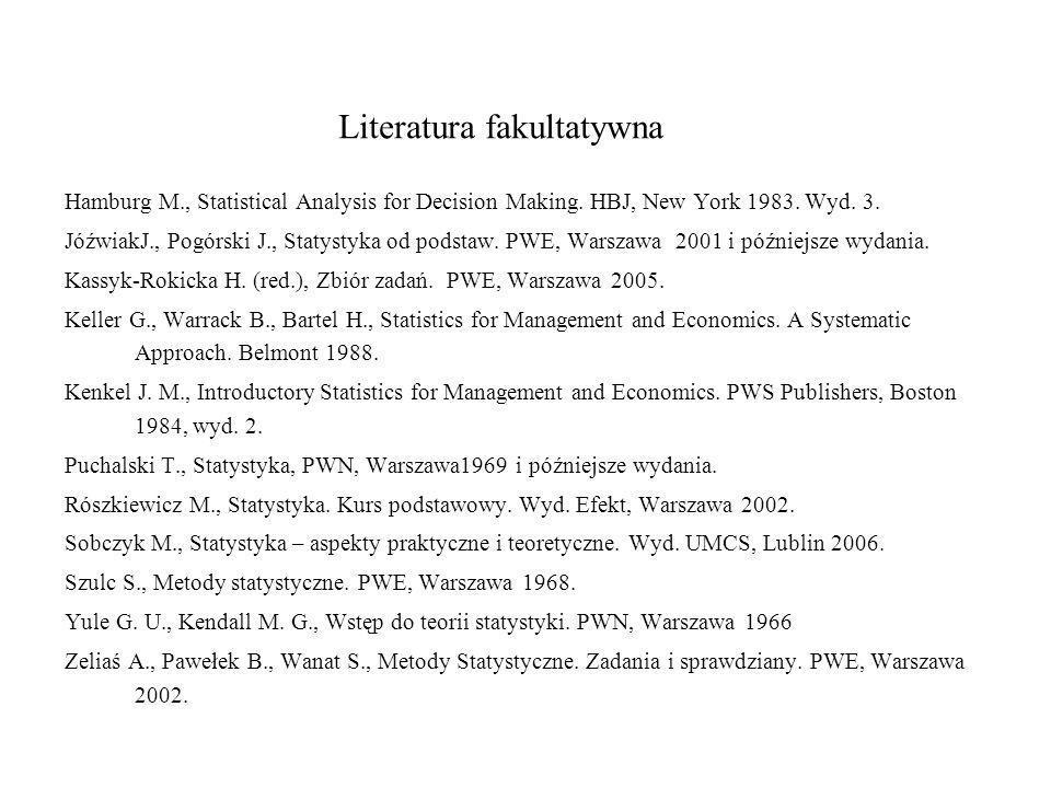 Literatura fakultatywna