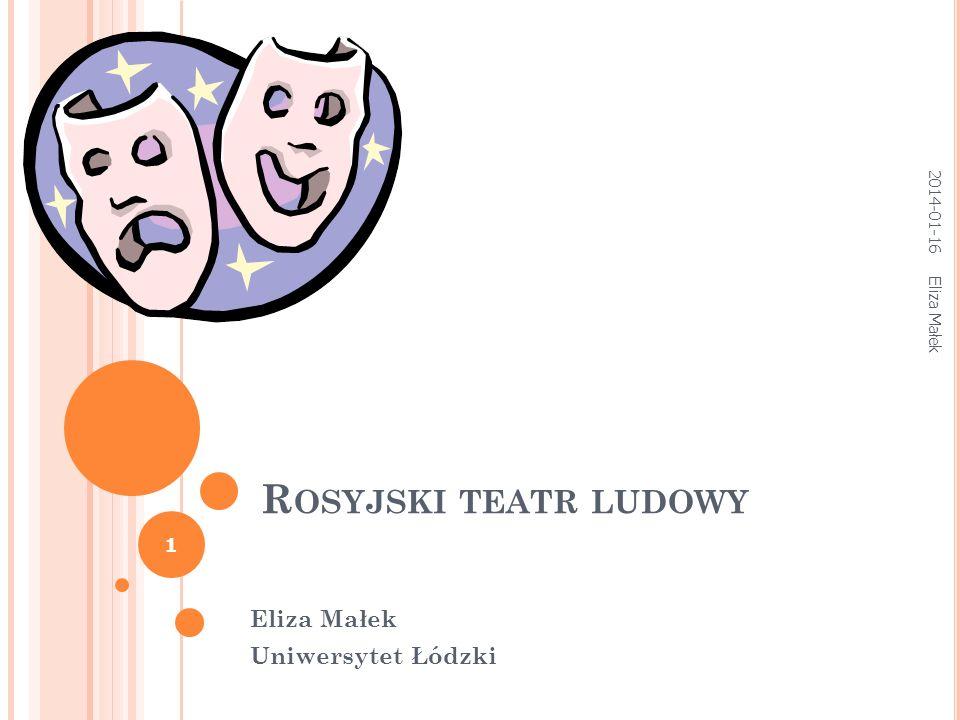 Eliza Małek Uniwersytet Łódzki