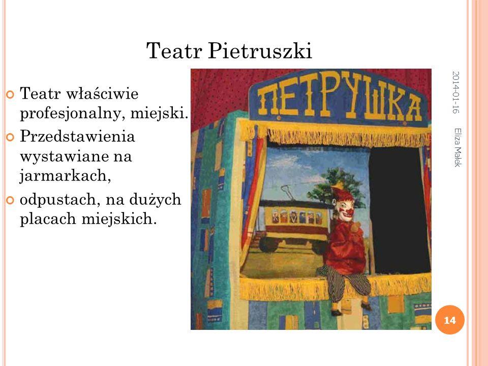 Teatr Pietruszki Teatr właściwie profesjonalny, miejski.