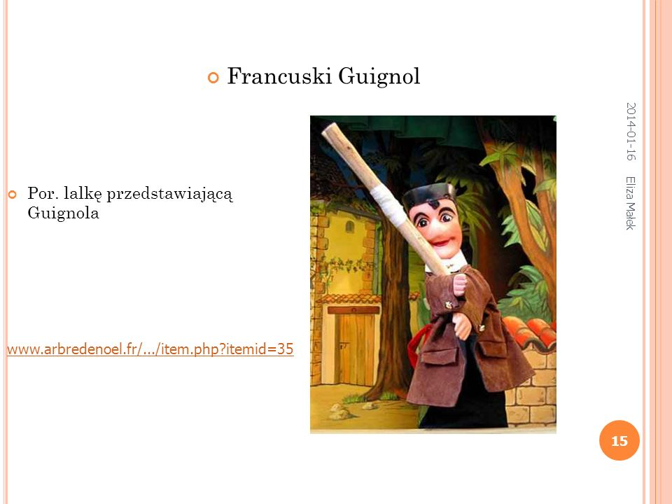 Francuski Guignol Por. lalkę przedstawiającą Guignola