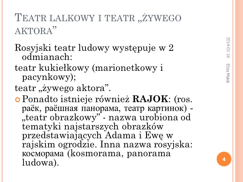 "Teatr lalkowy i teatr ""żywego aktora"