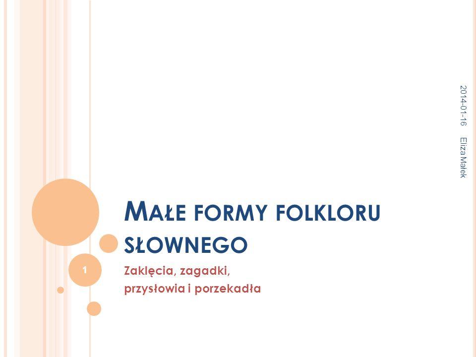 Małe formy folkloru słownego