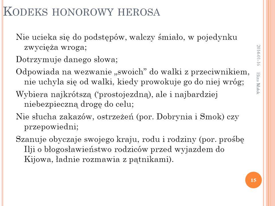 Kodeks honorowy herosa