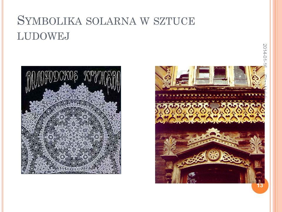 Symbolika solarna w sztuce ludowej