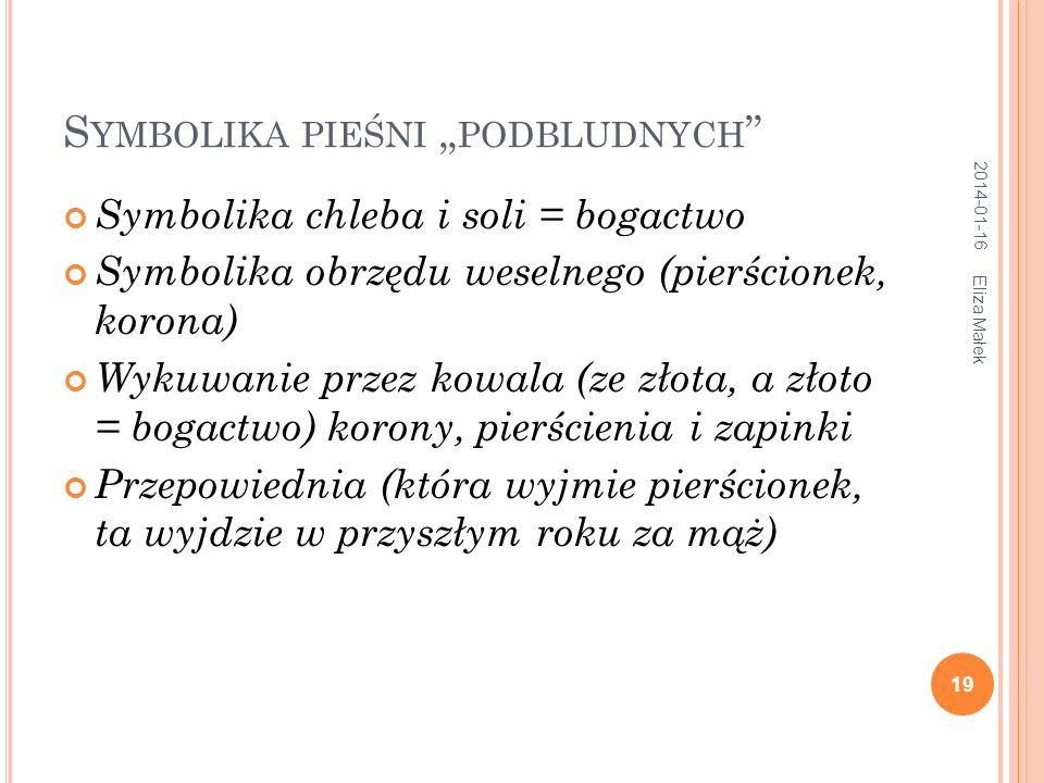 """Symbolika pieśni """"podbludnych"""