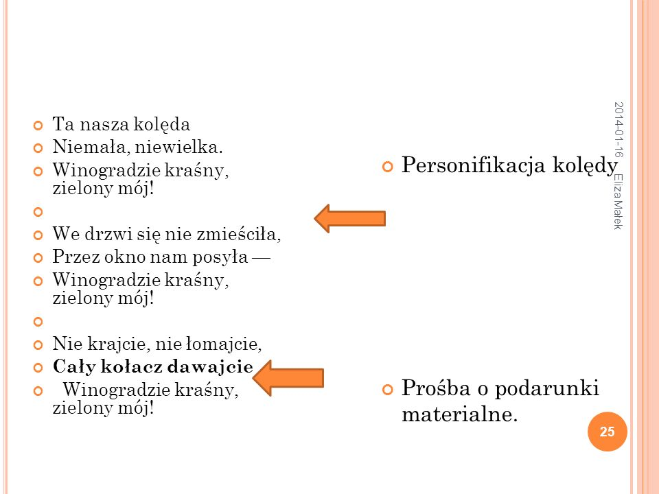 Personifikacja kolędy