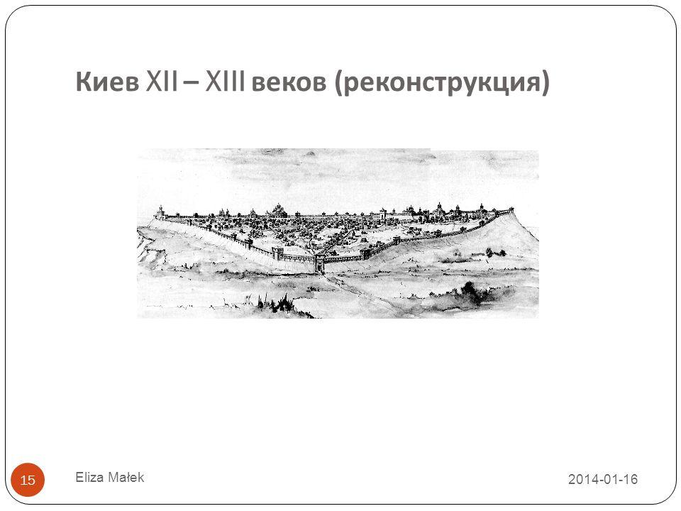 Киев XII – XIII веков (реконструкция)