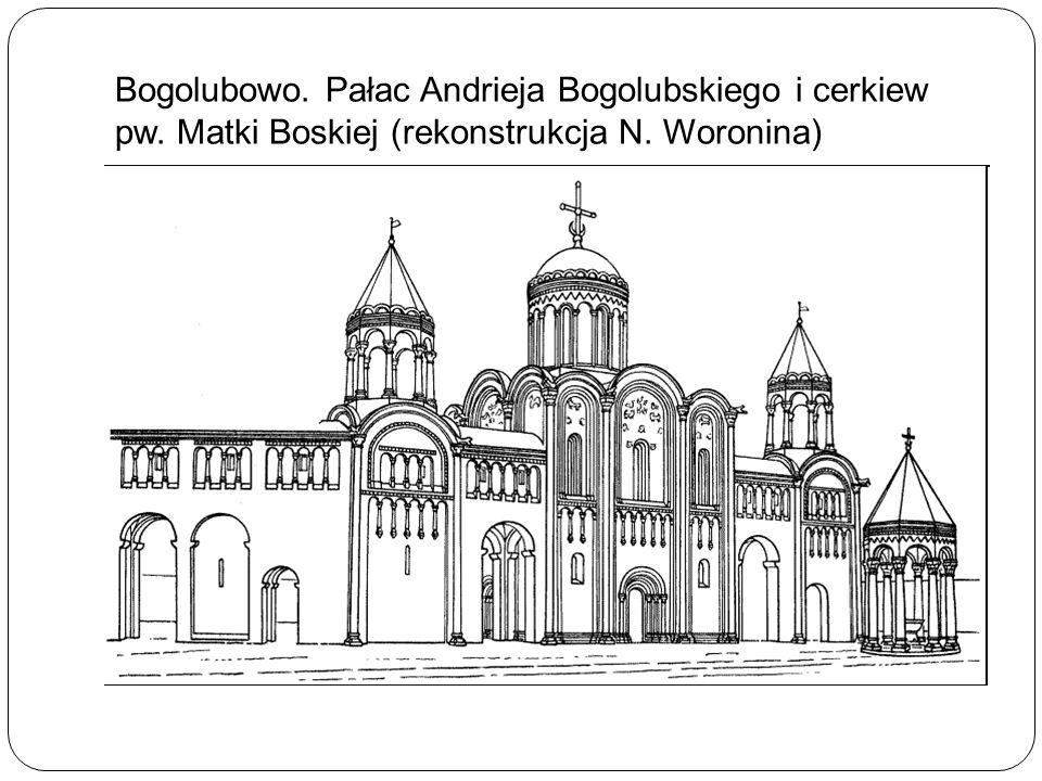 Bogolubowo. Pałac Andrieja Bogolubskiego i cerkiew pw