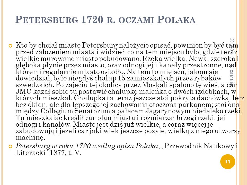 Petersburg 1720 r. oczami Polaka