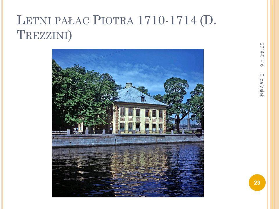 Letni pałac Piotra 1710-1714 (D. Trezzini)