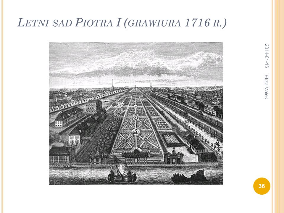 Letni sad Piotra I (grawiura 1716 r.)