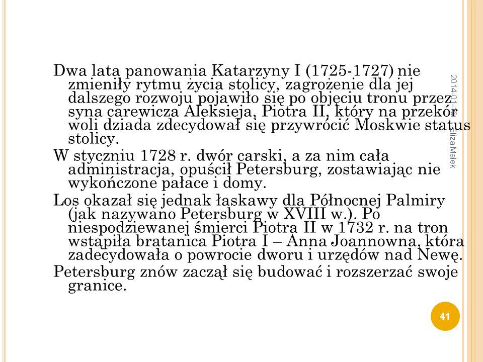 Petersburg znów zaczął się budować i rozszerzać swoje granice.