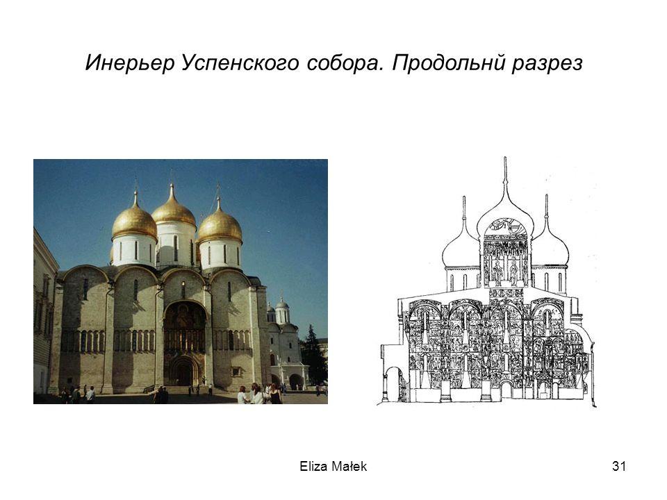 Инерьер Успенского собора. Продольнй разрез