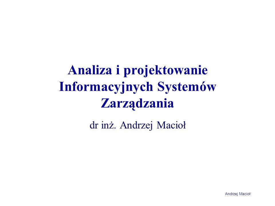 Analiza i projektowanie Informacyjnych Systemów Zarządzania