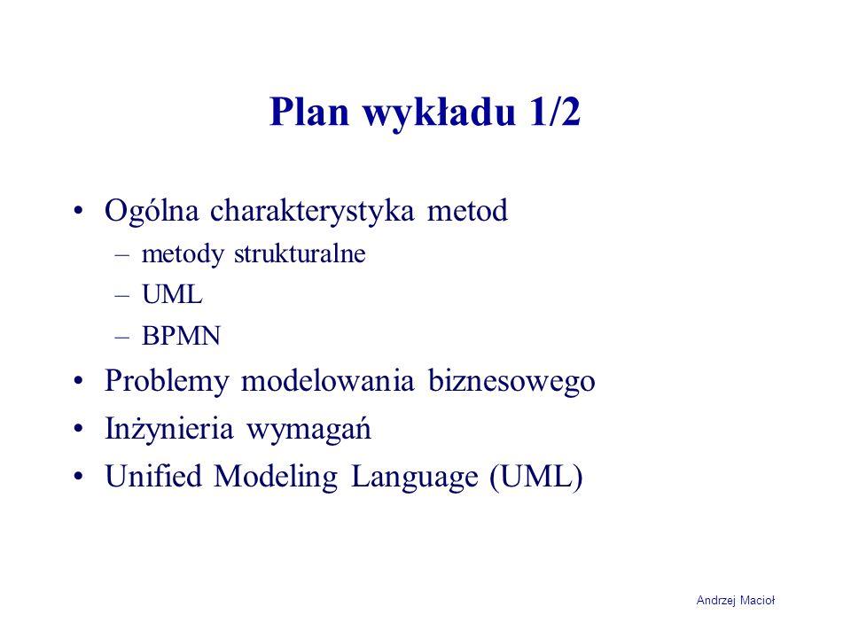 Plan wykładu 1/2 Ogólna charakterystyka metod