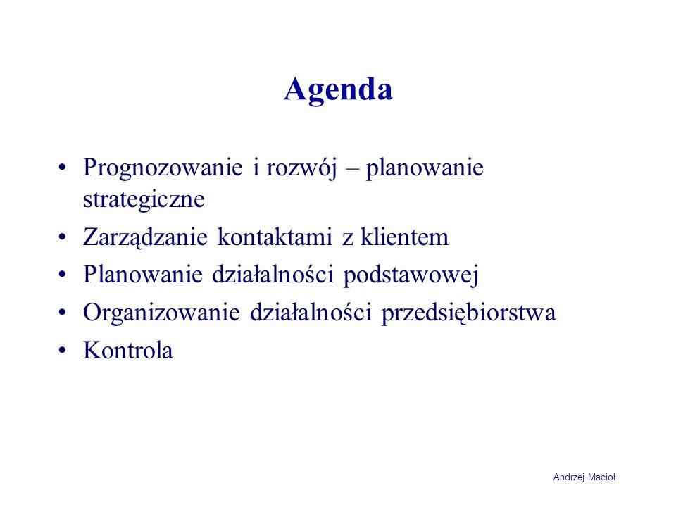 Agenda Prognozowanie i rozwój – planowanie strategiczne