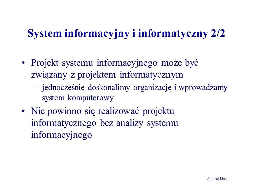 System informacyjny i informatyczny 2/2