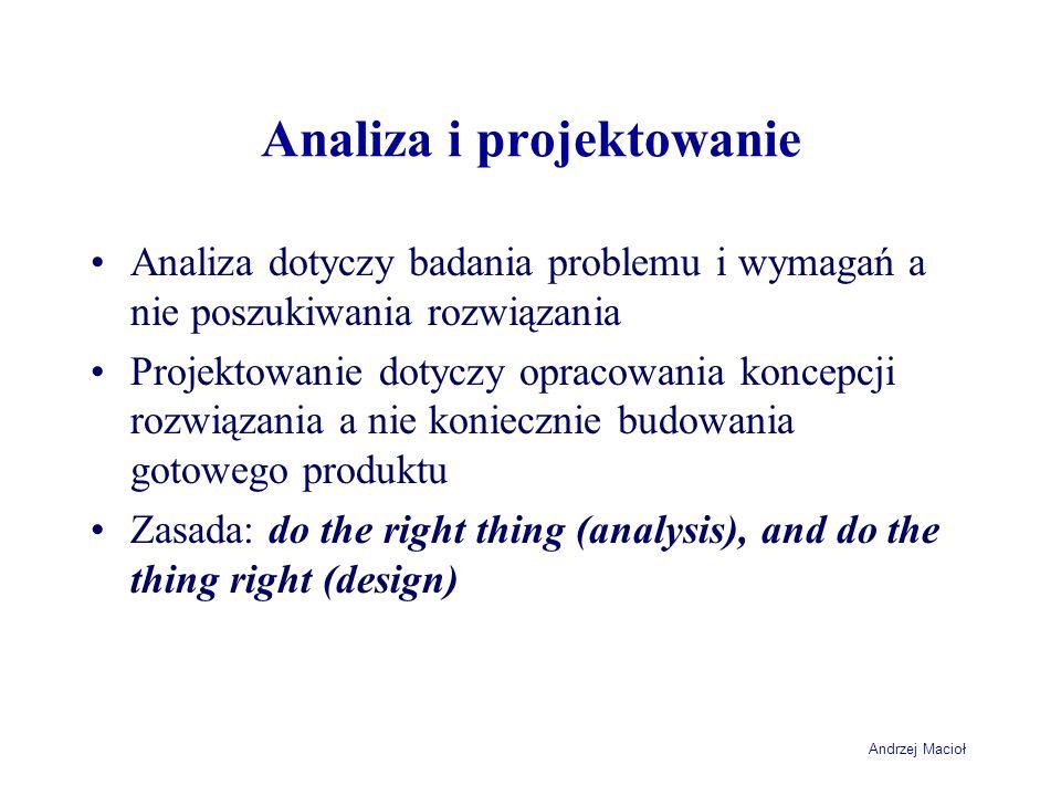 Analiza i projektowanie