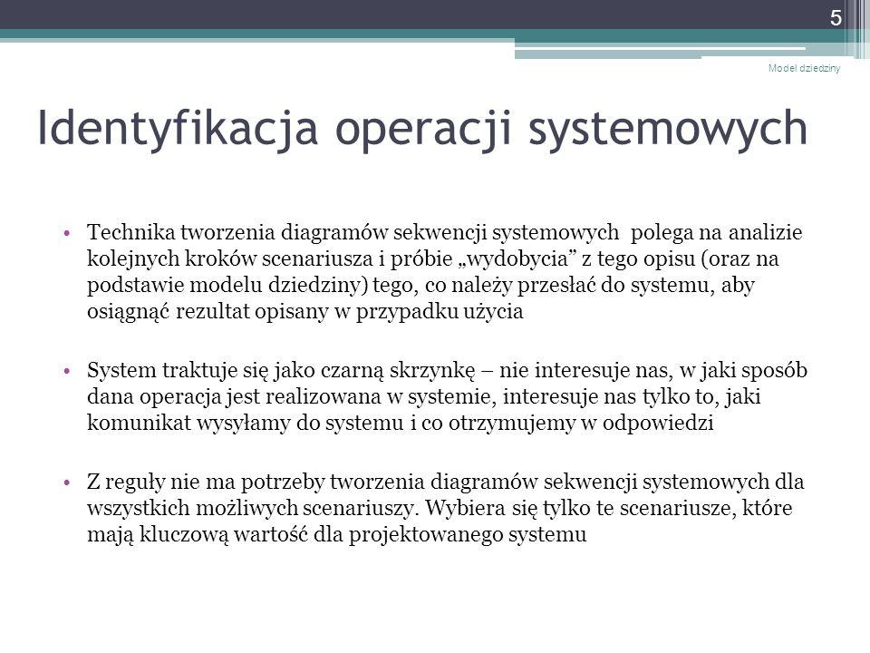 Identyfikacja operacji systemowych