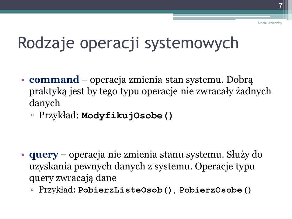 Rodzaje operacji systemowych