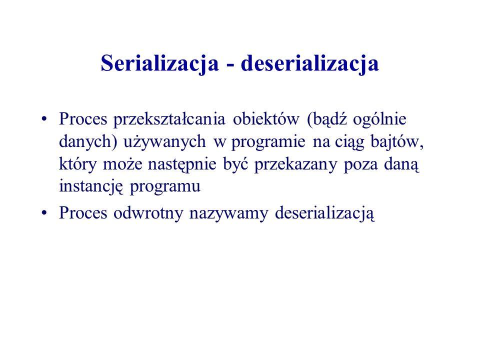 Serializacja - deserializacja