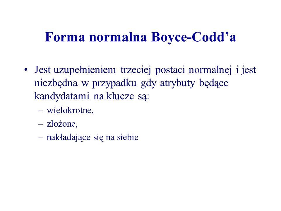 Forma normalna Boyce-Codd'a