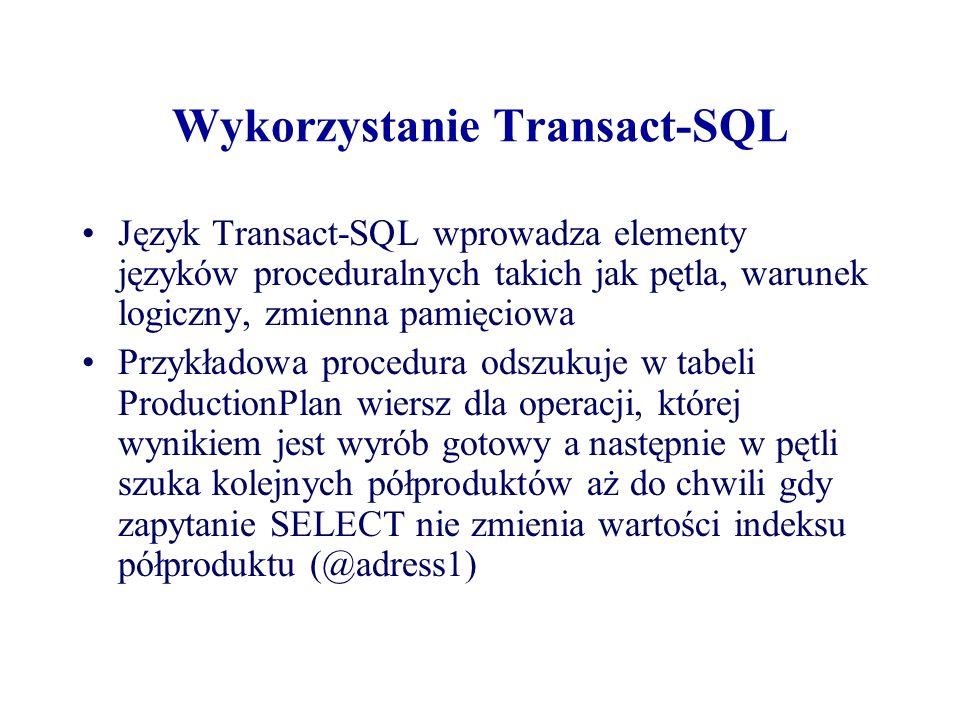 Wykorzystanie Transact-SQL