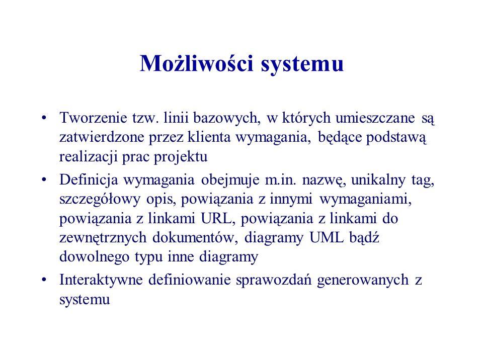 Możliwości systemu