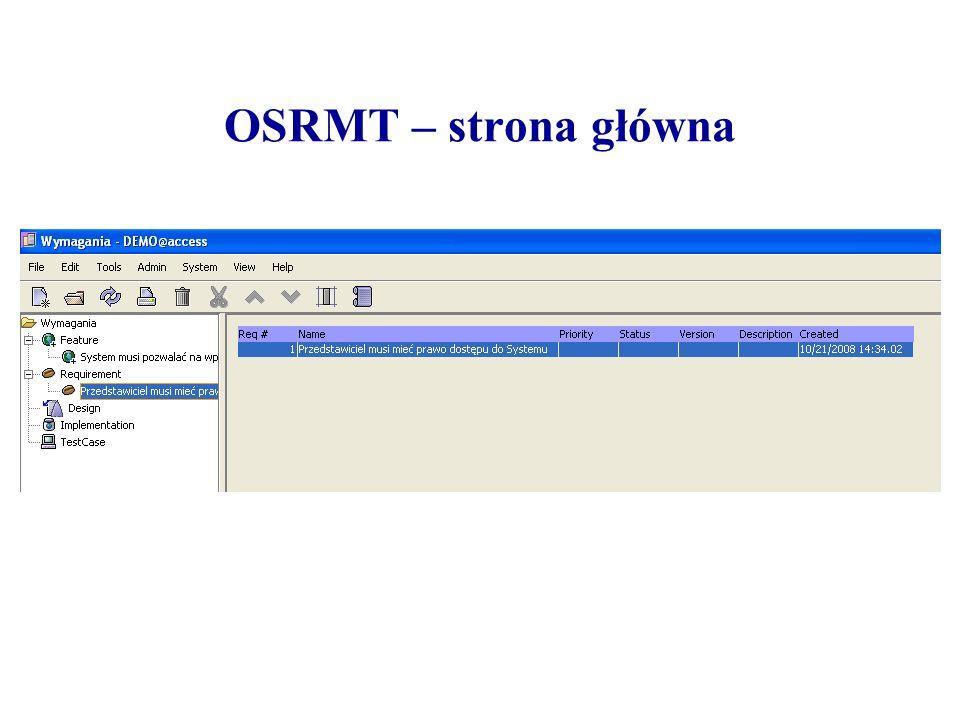 OSRMT – strona główna