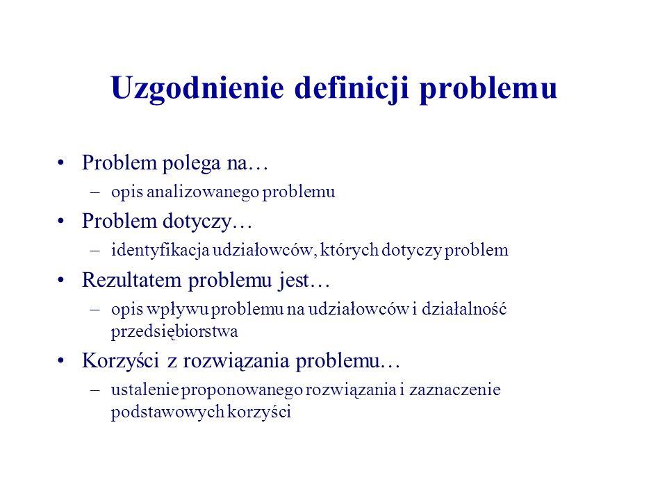 Uzgodnienie definicji problemu