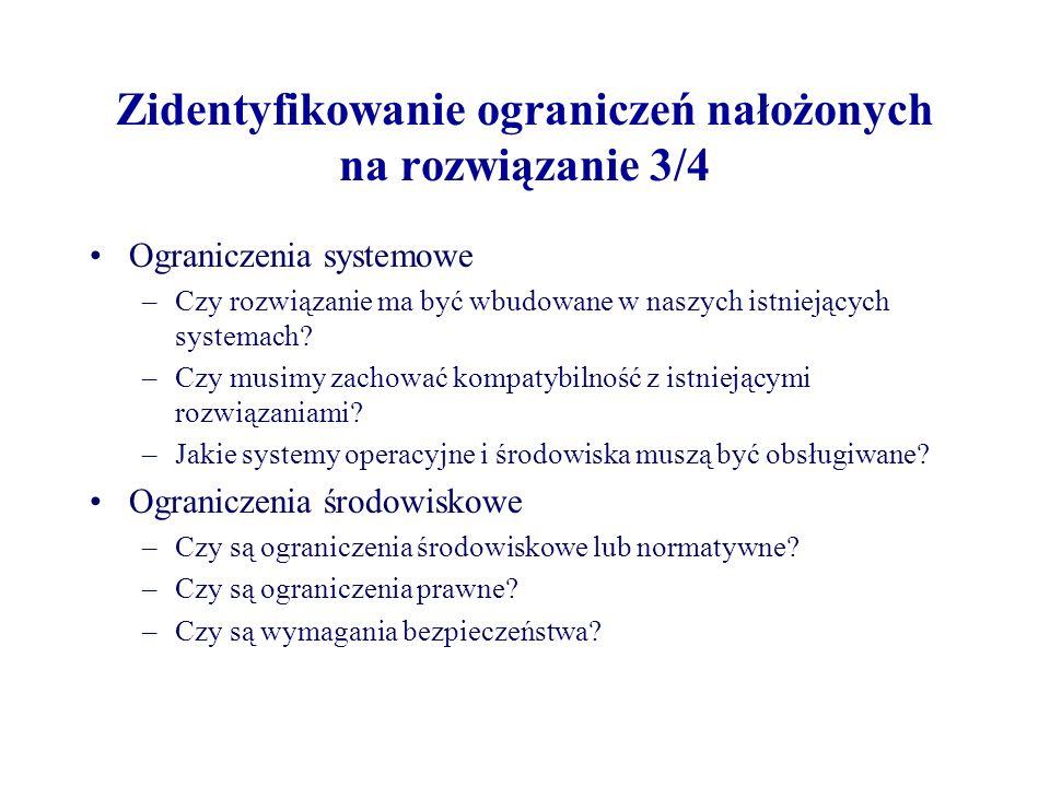 Zidentyfikowanie ograniczeń nałożonych na rozwiązanie 3/4