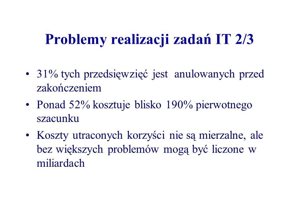 Problemy realizacji zadań IT 2/3