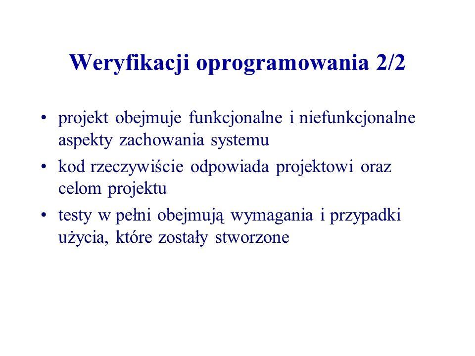 Weryfikacji oprogramowania 2/2