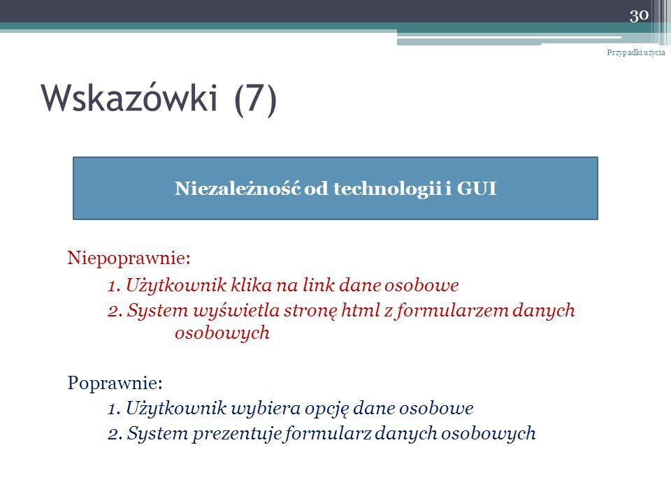 Niezależność od technologii i GUI