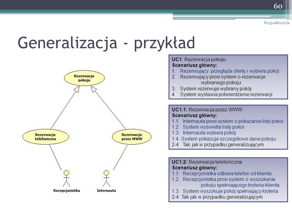 Generalizacja - przykład