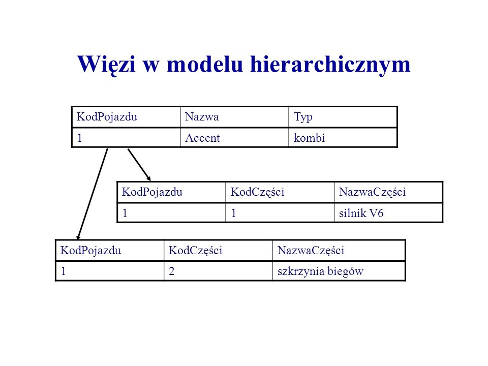 Więzi w modelu hierarchicznym