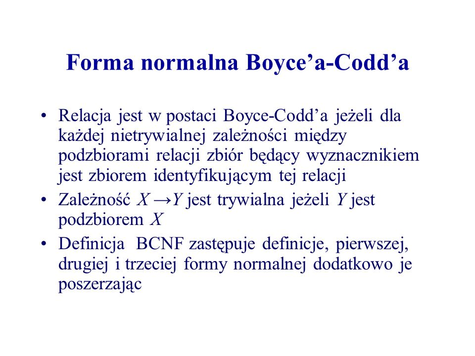 Forma normalna Boyce'a-Codd'a