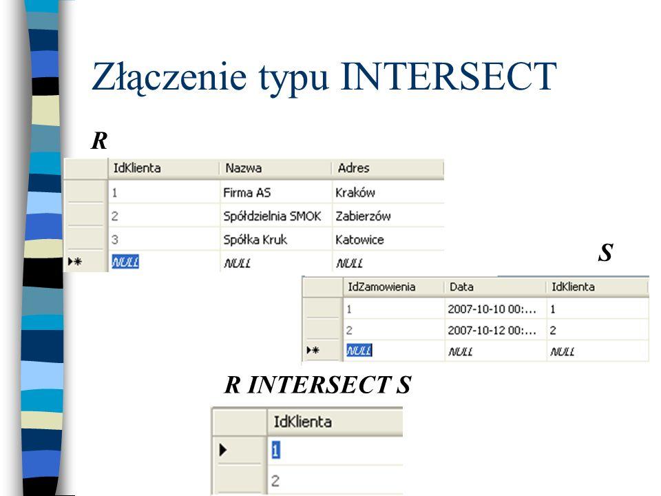 Złączenie typu INTERSECT