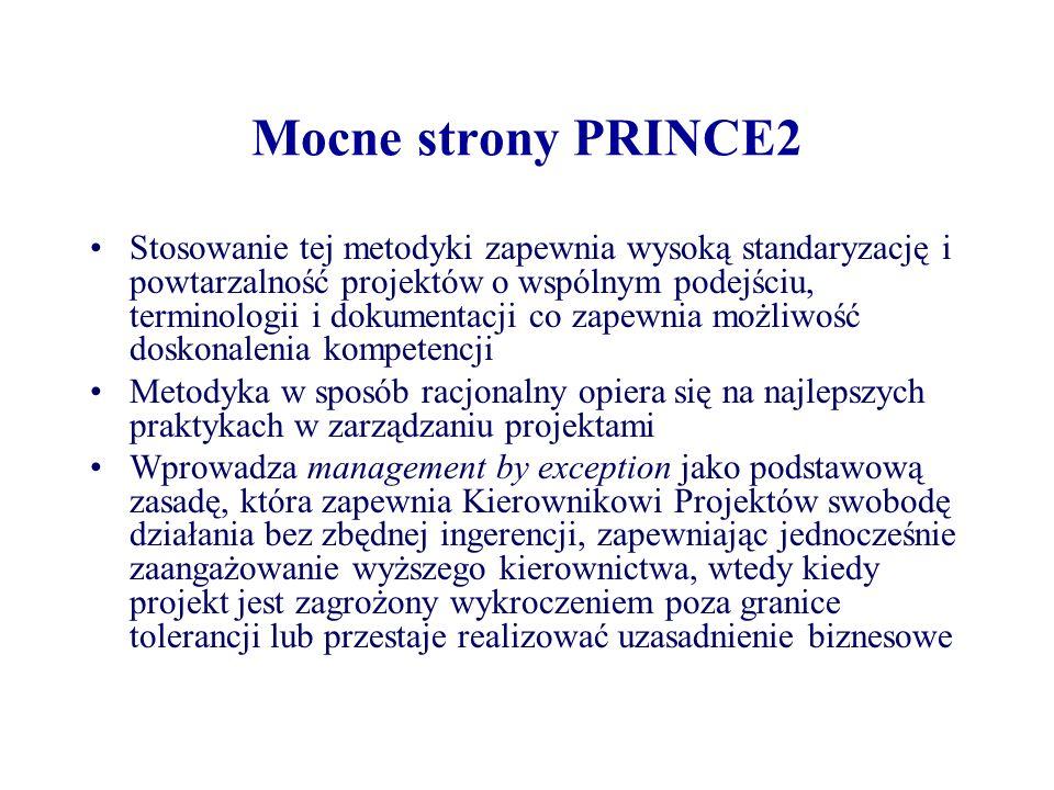 Mocne strony PRINCE2