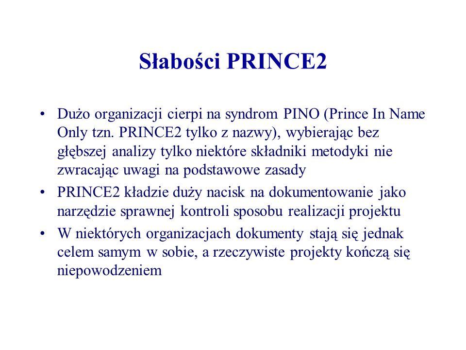 Słabości PRINCE2