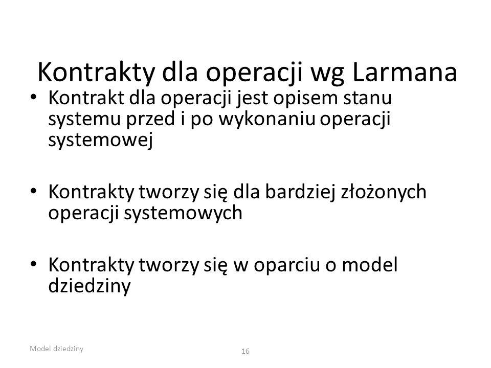 Kontrakty dla operacji wg Larmana