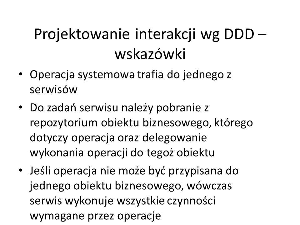 Projektowanie interakcji wg DDD – wskazówki